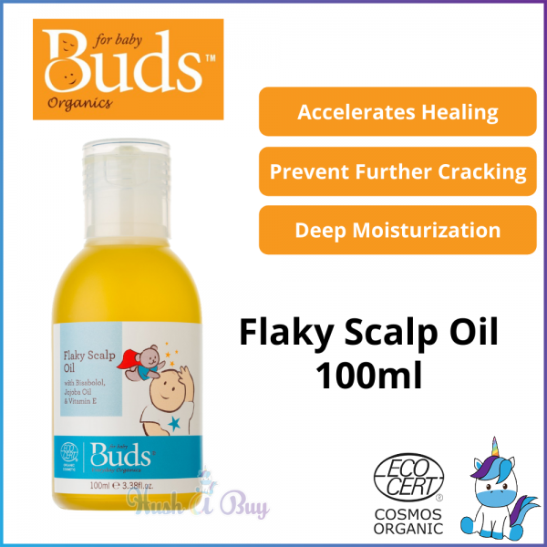 Buds Everyday Organic Flaky Scalp Oil 100ml - Baby Hair Oil