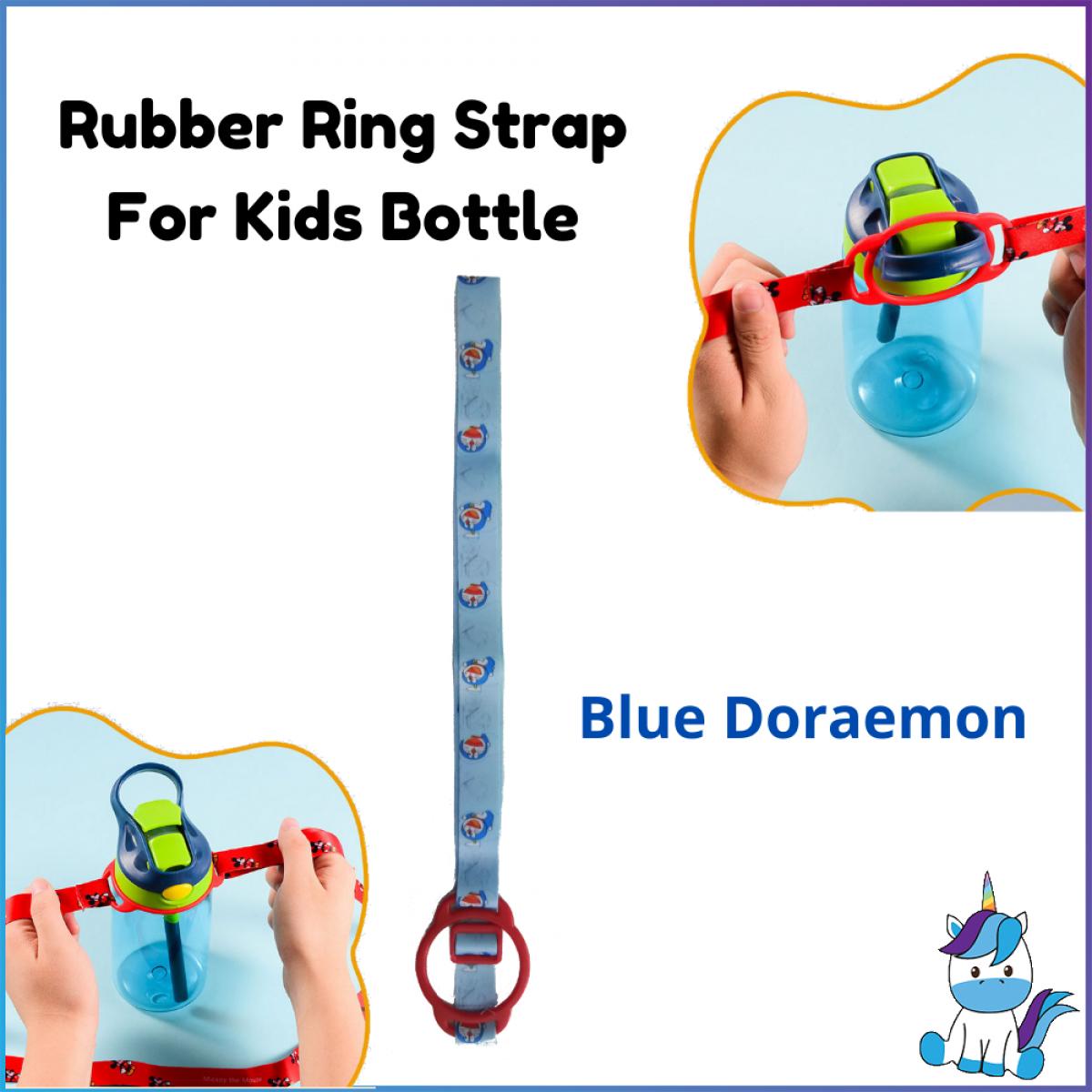 Rubber Ring Kids Bottle Strap - Suitable For Many Types of Kids Bottles - Stretchable Ring - Adjustable Length