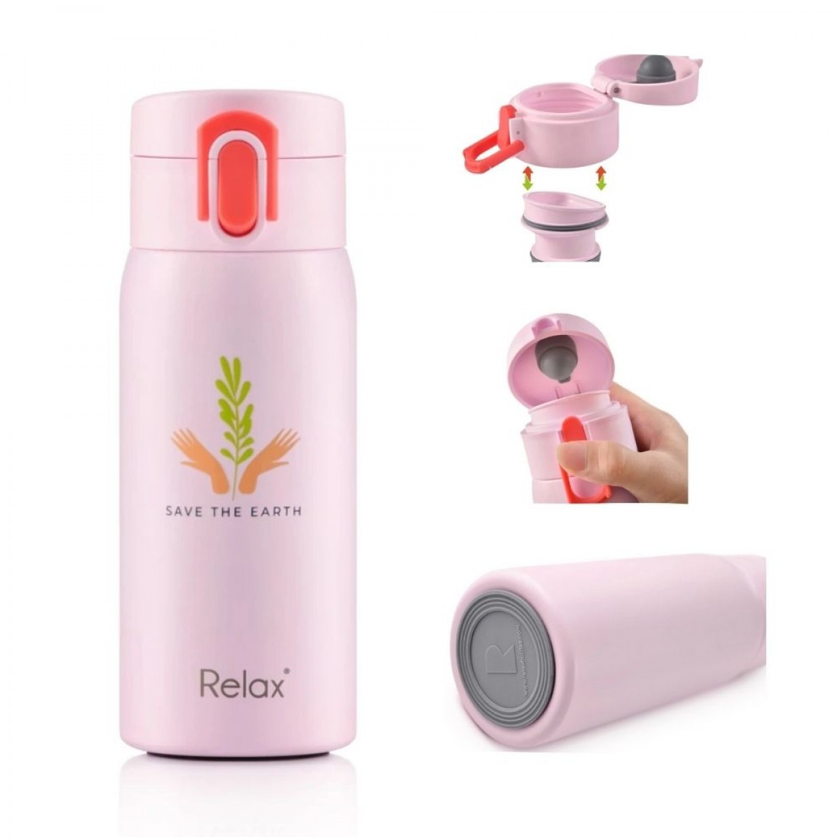 Relax 18.8 Stainless Steel Thermal Flask 350ml / 500ml - Thermos Flask / Tumbler - Keep Warm and Cold
