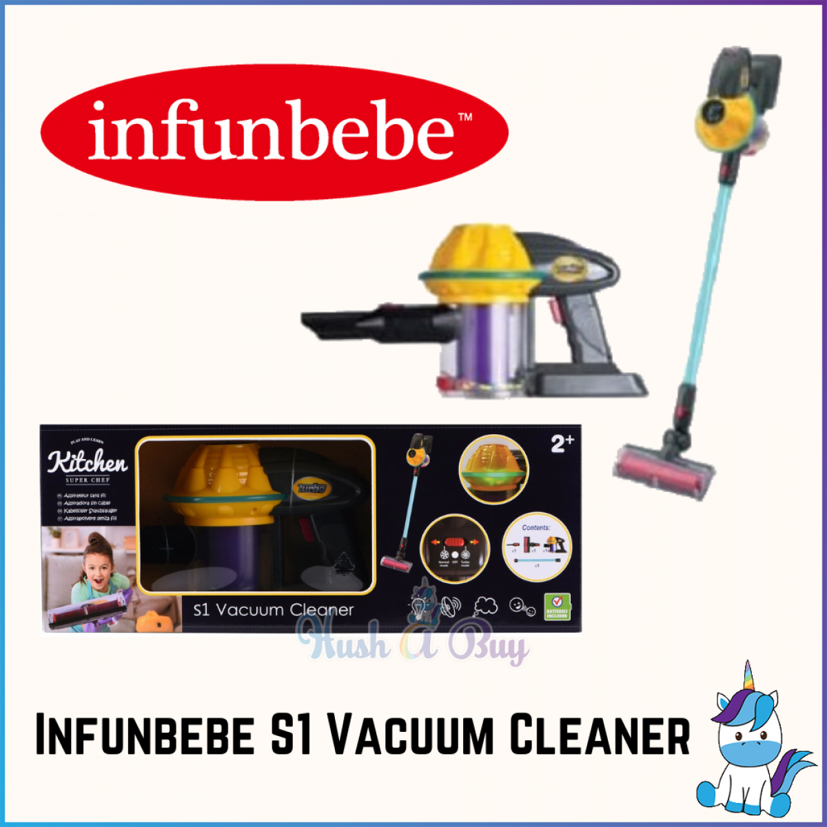 Infunbebe 1st Vacuum Cleaner - Kids Toys and Games - Role Play - Age 2+