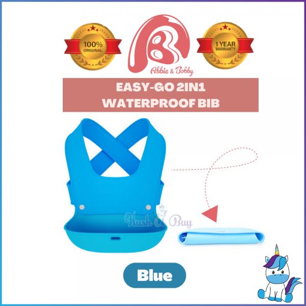 Abbie & Bobby™ Easy-Go 2 in 1 Waterproof Bib - Baby Bibs - Nursing Cover And Wear