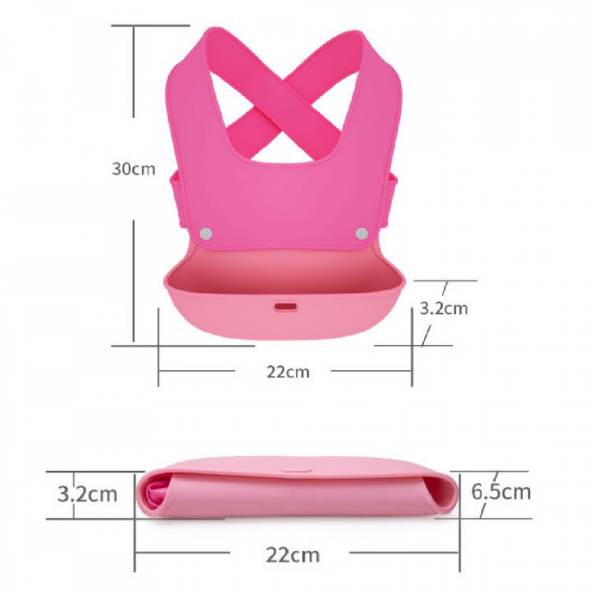 Abbie & Bobby™ Easy-Go 2 in 1 Waterproof Bib - Baby Bibs - Nursing Cover And Wear