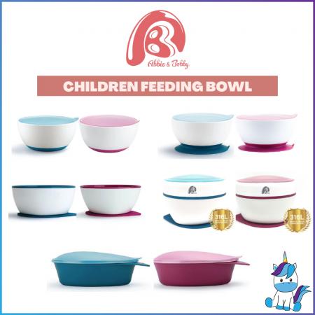 Abbie & Bobby Children Feeding Bowl - Kids Utensils - Training Bowl