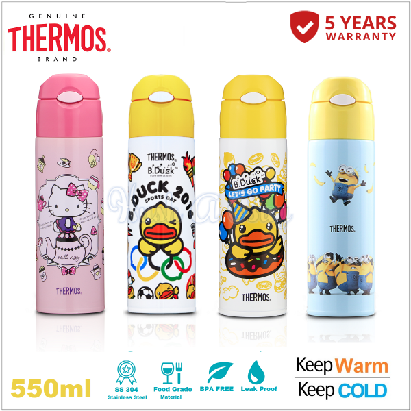 Thermos Ice Cold Straw Bottle 550ml
