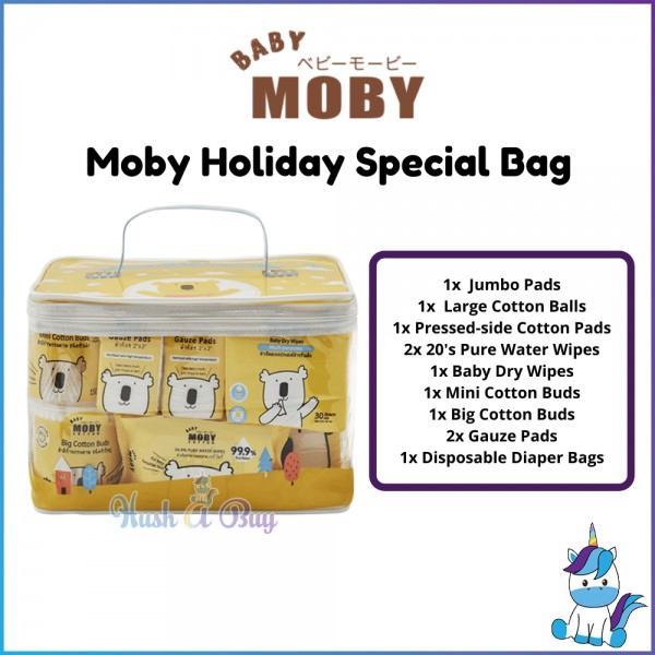 Baby Moby Holiday Special Gift Bag - Perfect Baby Gift - Baby Travel Set