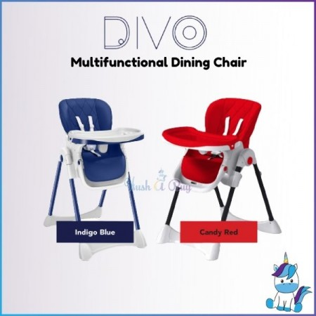 DIVO Multi-functional Dining Chair (Navy/Red)