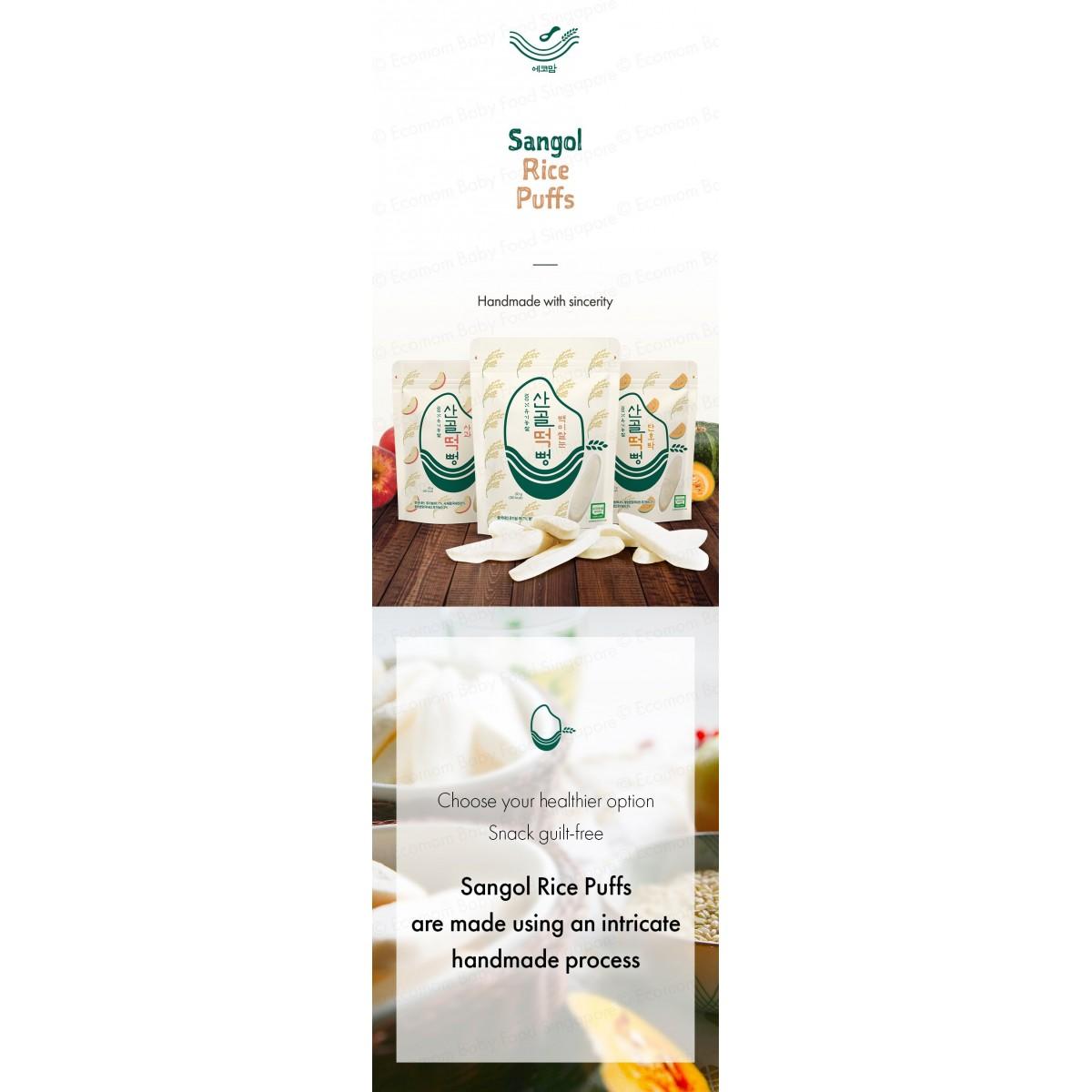 Ecomom Sangol Rice Puff / Rice Stick / Fruit Chips