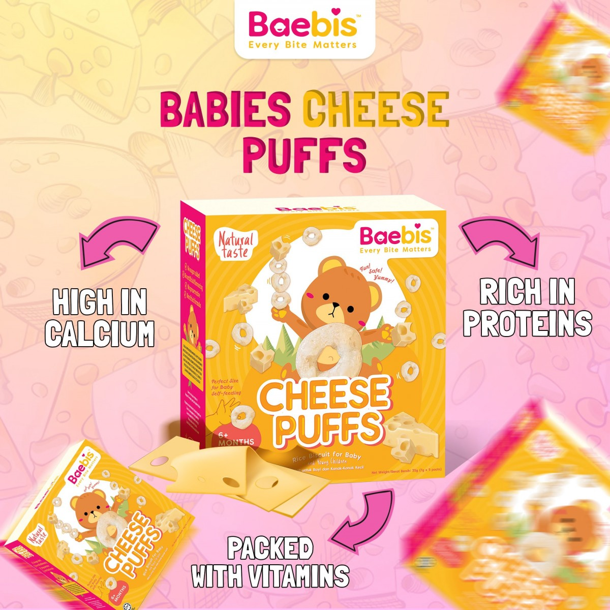 BAEBIS HALAL and Organic Rice Puff for Baby (6+M)