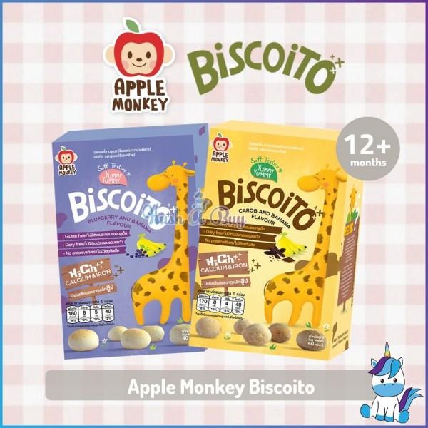 Apple Monkey Biscoito Carob Banana / Blueberry Banana40g
