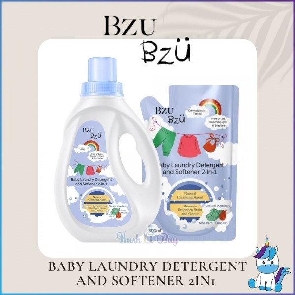 BZU BZU Laundry Detergent & Softener 800ml(Refill) / 1000ml (Bottle)