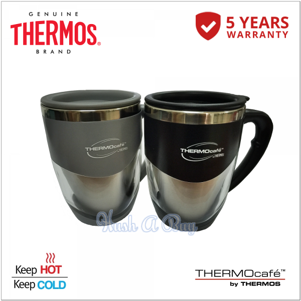 Thermos Thermocafe Stainless Steel Double Wall Office Mug