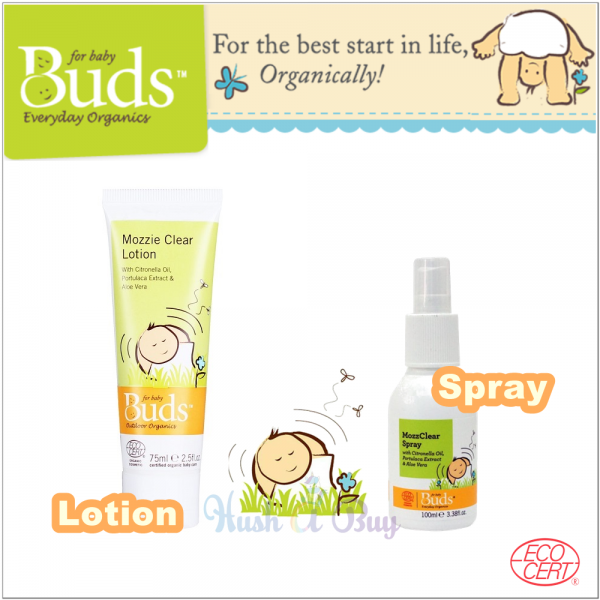 Buds Mozzie Clear Lotion or Spray