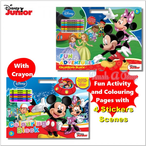 Disney Junior Colouring Block with Crayons and Stickers