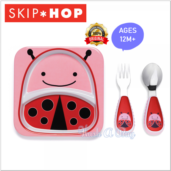 Skip Hop Zootensils Fork & Spoon with Divide Plate