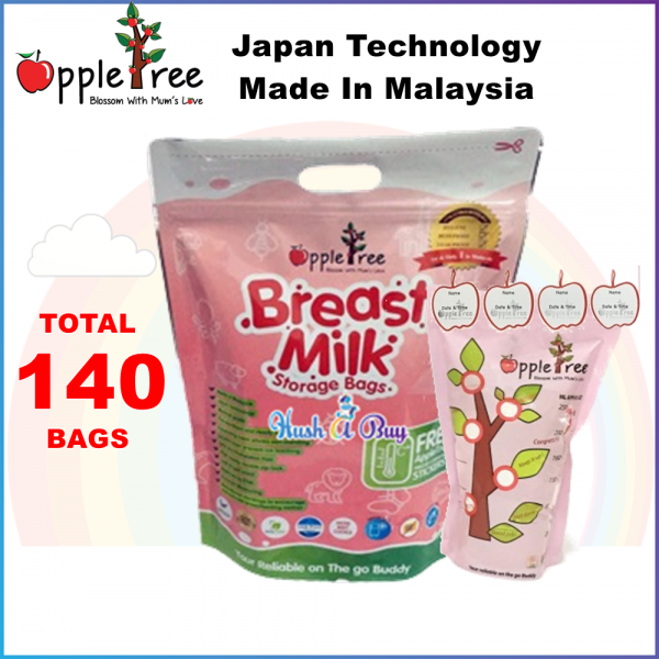 Appletree Milk Storage Bag / Breastmilk Bag / Beg Susu / Breast Milk Bag 100PCS (8oz)