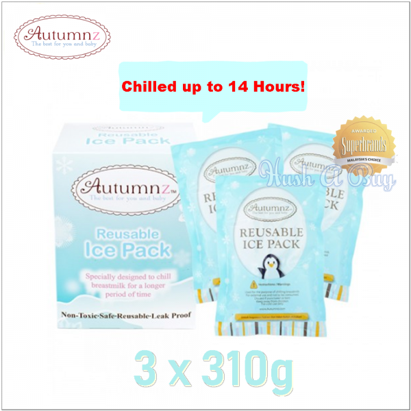 Autumnz Reusable Ice Pack Gel 310g x 3