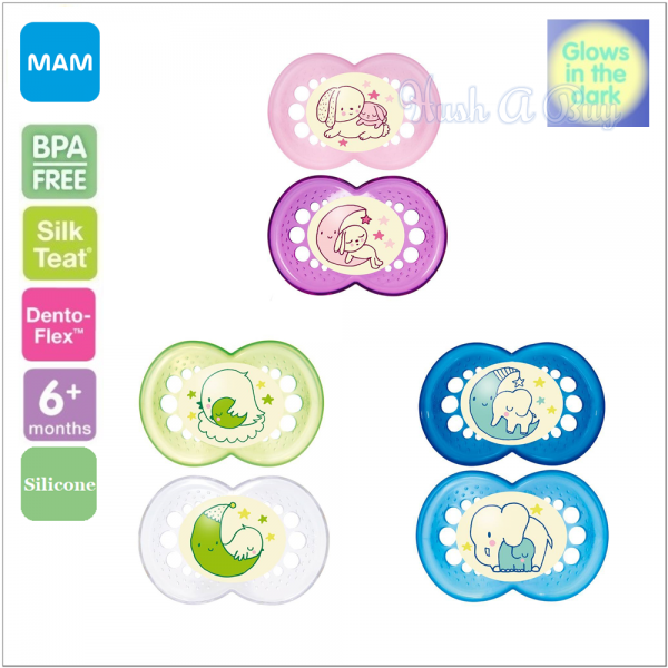 MAM Night Baby Pacifier (6+ Months) - Twin