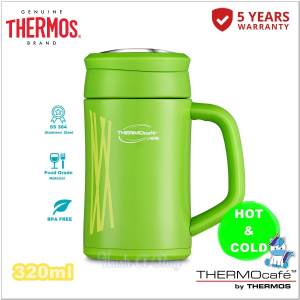 Thermos Thermocafe Desktop Mug 320ml with Airtight Lid & Stainless Steel Strainer