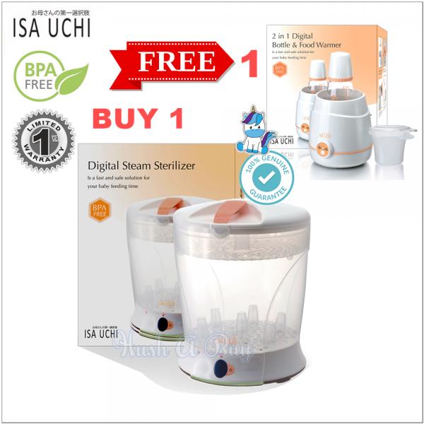 ISA UCHI Digital Steam Sterilizer FREE 2-in-1 Digital Bottle & Food Warmer