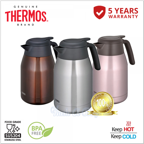 Thermos THS SERIES Stainless Steel Carafe for Coffee / Tea 1500ml OR 2000ml **