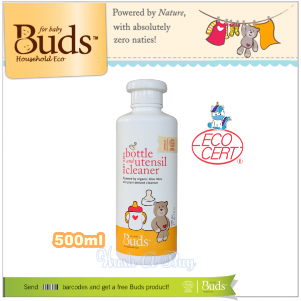 Buds BHE Baby Safe Bottle & Utensil Cleaner 500ml (Exp: April 2022)