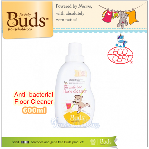 Buds Baby Safe Anti-bacteria Floor Cleaner 600ml ( Expiry : July / 2021 )