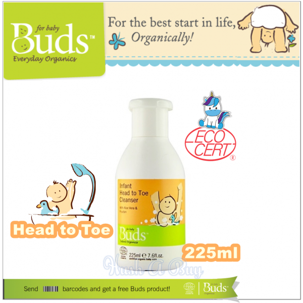 Buds Infant Head To Toe Cleanser 225ml