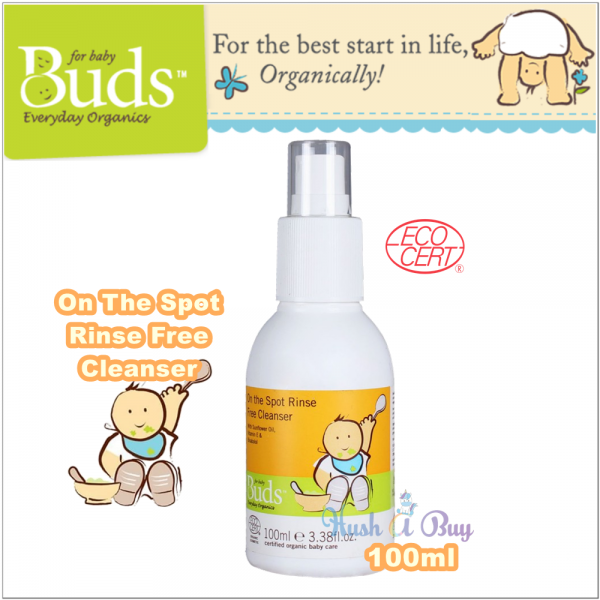Buds Everyday Organic On the Spot Rinse Free Cleanser 100ml ( Expiry : August / 2020 )