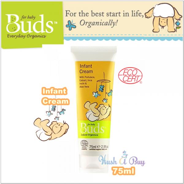 Buds Everyday Organic Infant Cream 75ml