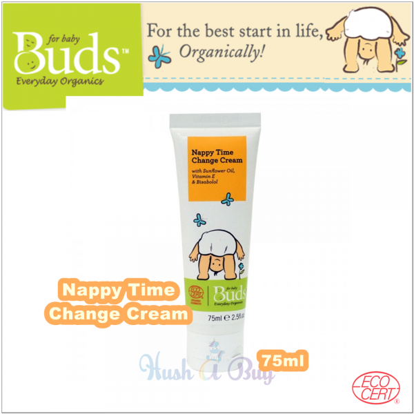 Buds Everyday Organic Nappy Time Change Cream 75ml