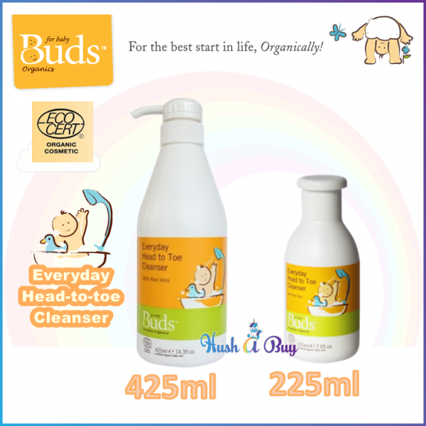 Buds Everyday Organic Baby Head to Toe Cleanser (225ml/ 425ml)