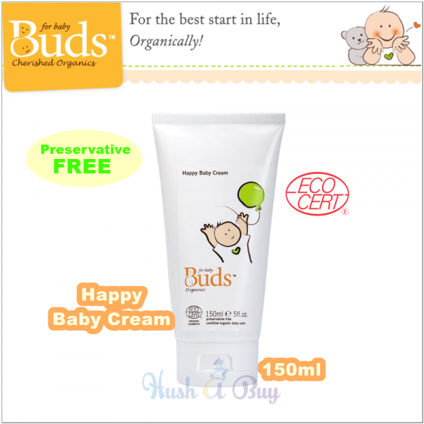 Buds Cherish Organics Happy Baby Cream 150ml ( Expiry : October / 2021 )