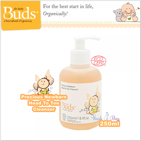 Buds Cherish Organic Precious Newborn Head To Toe Cleanser 250ml ( Expiry : October / 2021 )