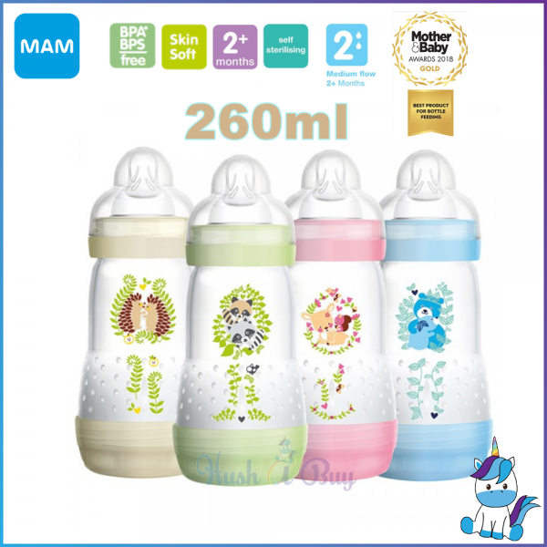 MAM Easy Start Anti-Colic Bottle 260ml - Single - Made in Europe
