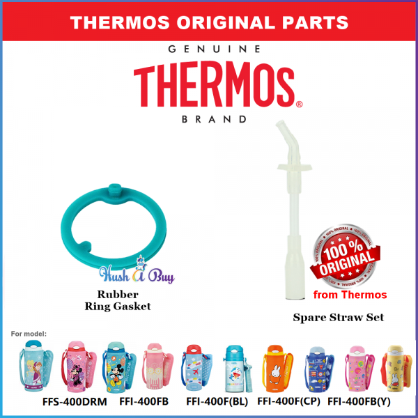 Thermos Spare Straw Complete Set for FFS-400/FFI-400/FHL-400 - FREE STRAW BRUSH