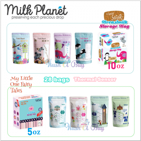 Milk Planet Premium Double Zip Lock Breas tmilk Storage Bag 5oz/10oz - Bag Susu 28pcs