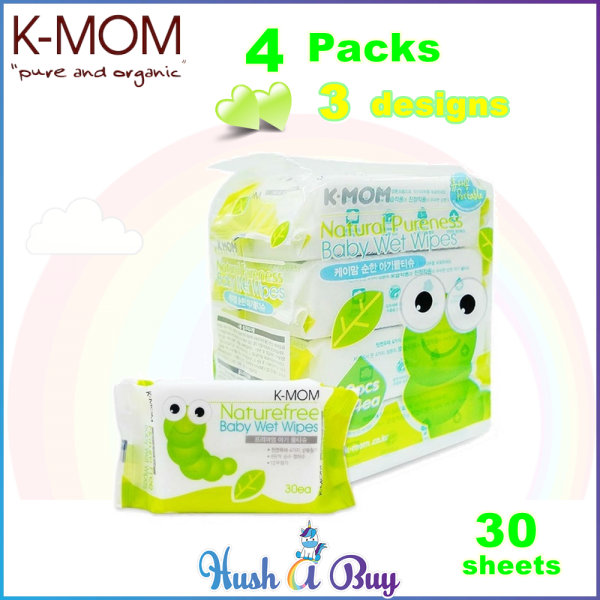 K-MOM Naturefree Basic Wet Tissues 30's - 4 Packs