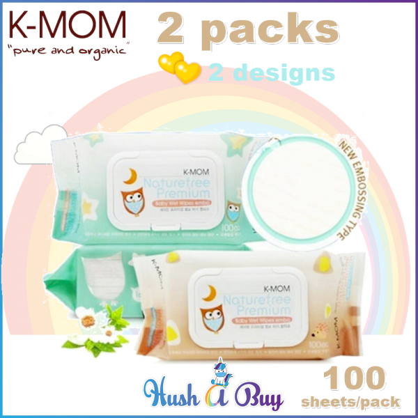 K-MOM Naturafree Premium Embossing with Cap 100's - 2 Packs