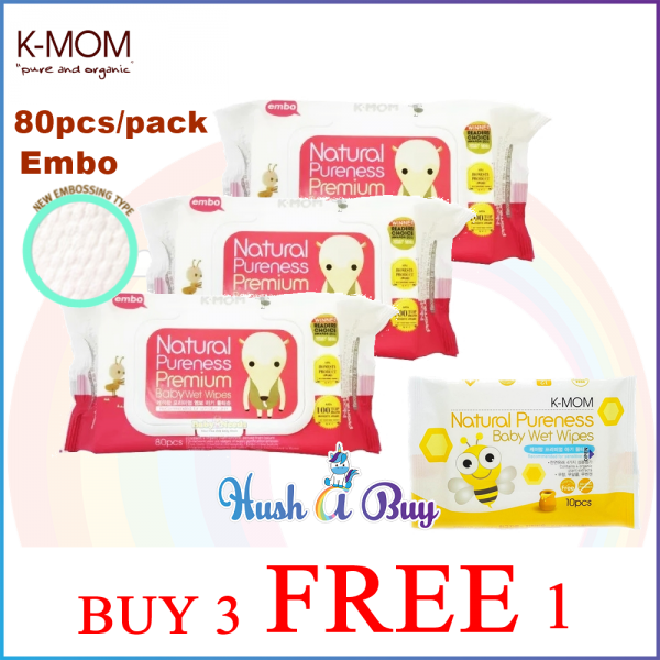 K-MOM Naturafree Premium Embossing with Cap 80's