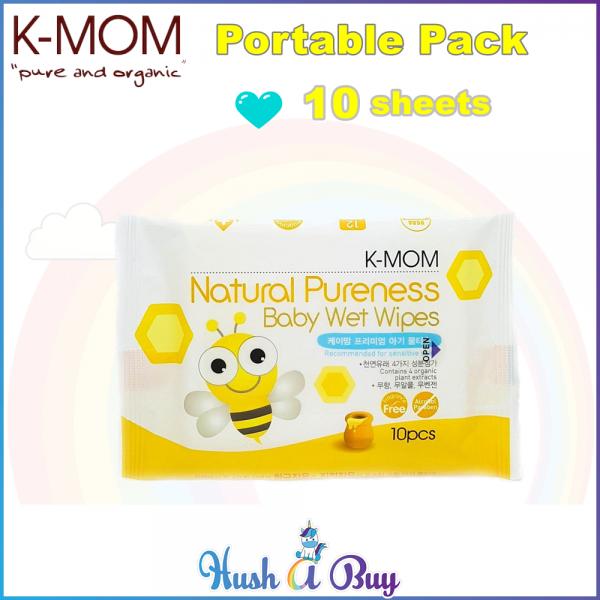 K-MOM Basic Wet Tissue/Wet Wipes 10's