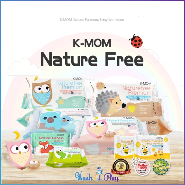 K-MOM Nature Free Wet Wipes Plain and Embo (1 Pack)