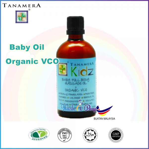 Tanamera Baby Full Body Massage oil Organic VCO 100ml
