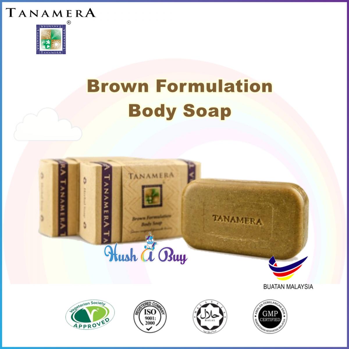 Tanamera Formulation Body Soap 125g White, Brown, Green, Black