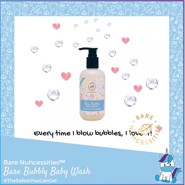 Bare Nuhcessities Bubbly Baby Wash / Body Wash / Body Shampoo 230ml