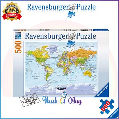 Ravensburger Premium Puzzle 500pcs - World Map  (Authentic and Original)