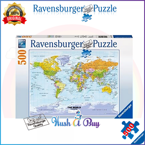 Ravensburger Premium Puzzle 500pcs - World Map  (Authentic and Original)