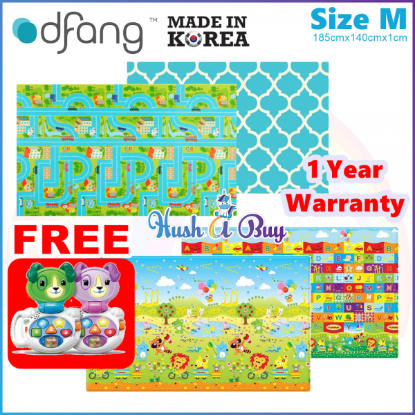 Dfang Double Film Premium PVC Mat (185x140x1.0cm) Size M - Made in Korea -1 Year Warranty