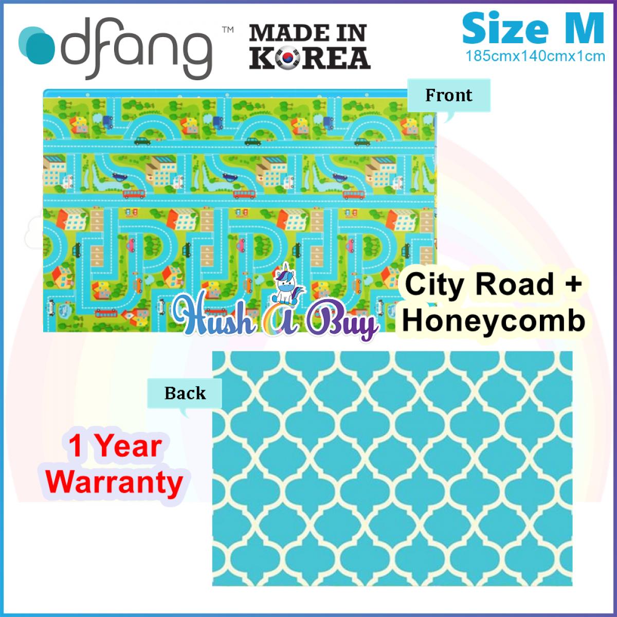 Dfang Double Film Premium PVC Mat (185x140x1.0cm) Size M - Made in Korea (1 Year Warranty)
