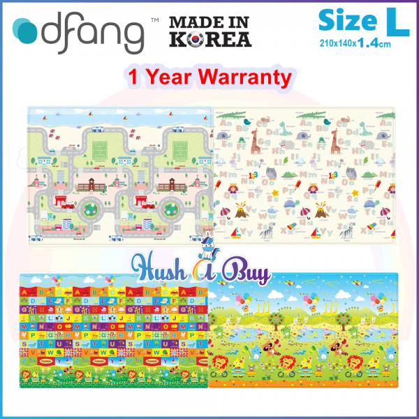 Dfang Double Film Premium PVC Mat (210x140cmx1.4cm) Size L - Made in Korea - 1 Year Warranty
