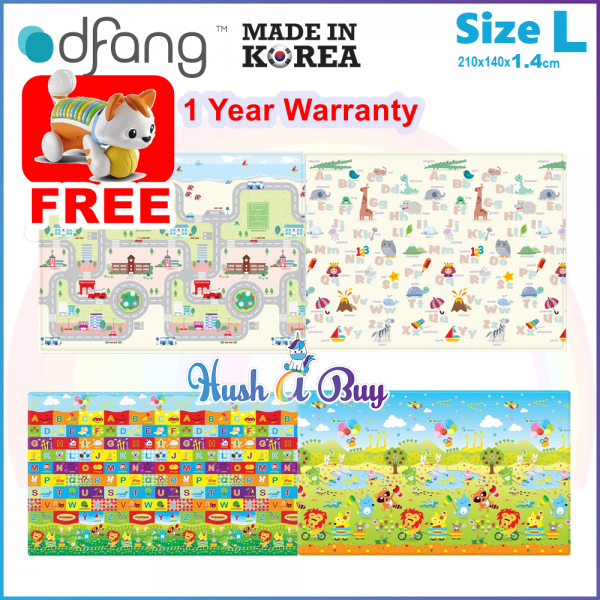 Dfang Double Film Premium PVC Mat (210x140cmx1.4cm) Size L - Made in Korea (1 Year Warranty)